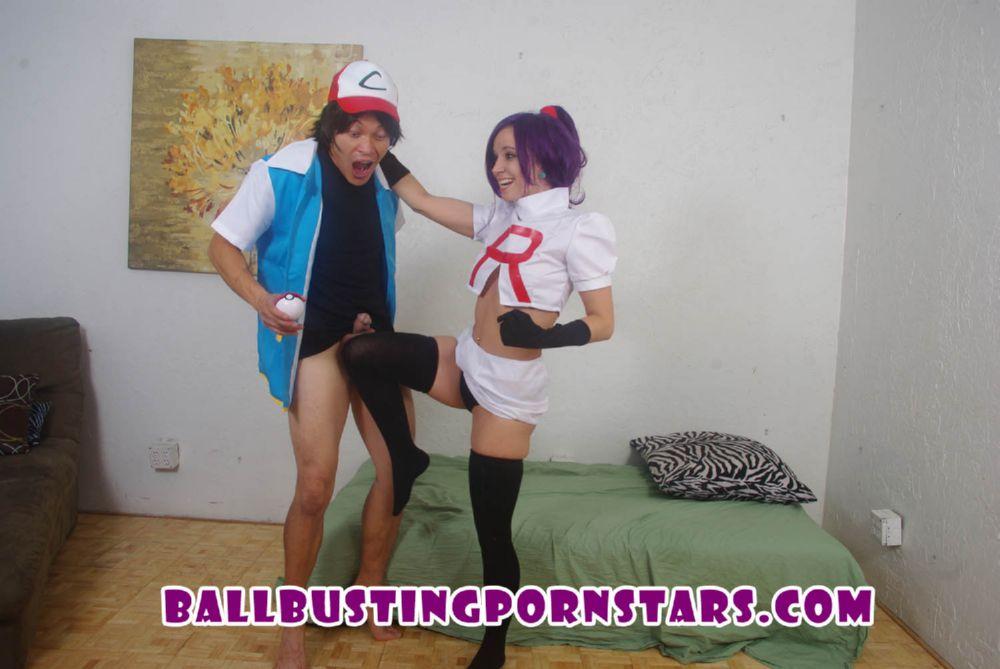 Norah Nova In Scene: Pokemon GO Parody Ballbusting Sex - BALLBUSTINGPORNSTARS - HD/720p/MP4