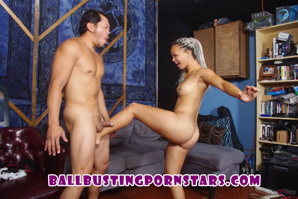 Ashley Lovebug In Scene: Trespasser Ballbusting - BALLBUSTINGPORNSTARS - HD/720p/MP4