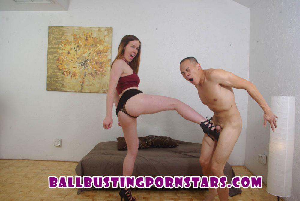 Kierra Wilde In Scene: Hairy Bush Redhead Ballbusting Sex - BALLBUSTINGPORNSTARS - HD/720p/MP4