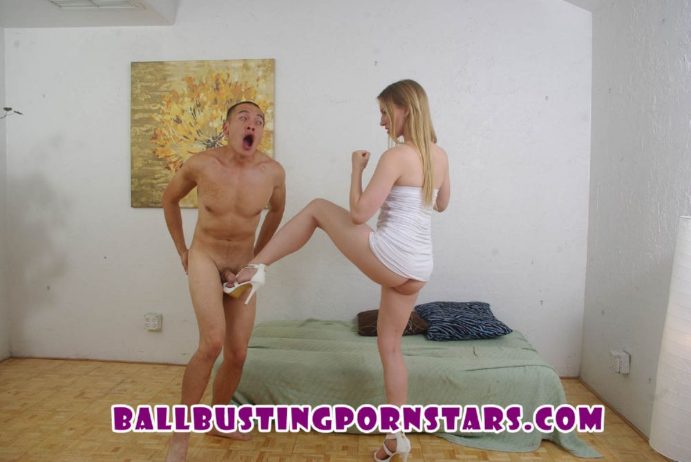 Riley Reyes In Scene: Ballbusting Blonde Psycho Blind Date - BALLBUSTINGPORNSTARS - FULL HD/1080p/MP4