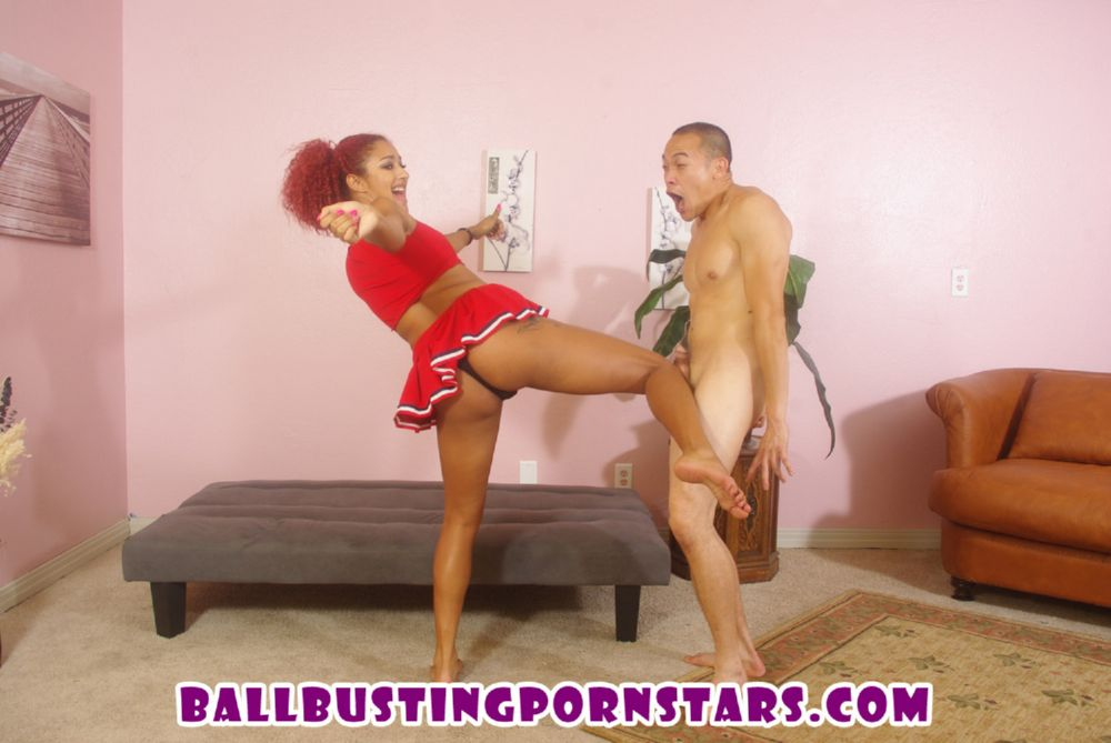 Shayne ryder ballbusting cheerleader 4