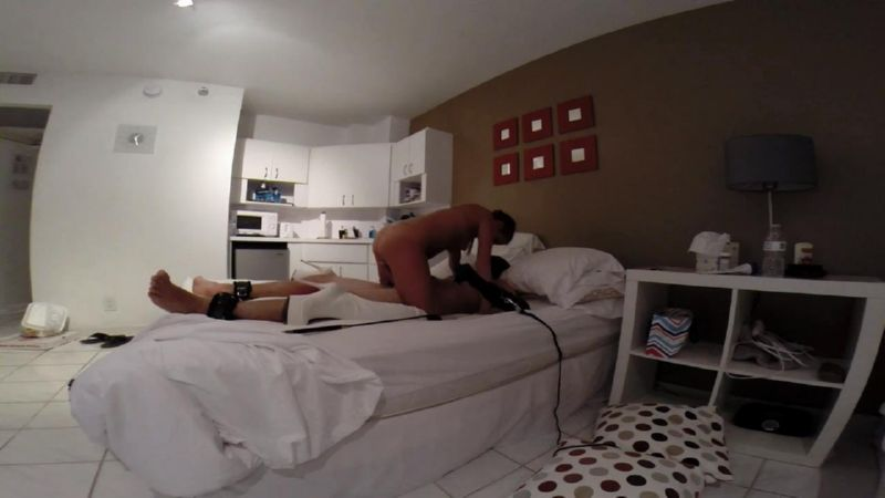 Goddess In Scene: Amateur femdom video of male tied up and secured to the bed so that his body and cock can be used for sexual pleasure - FEMDOMLOFT - HD/720p/MP4