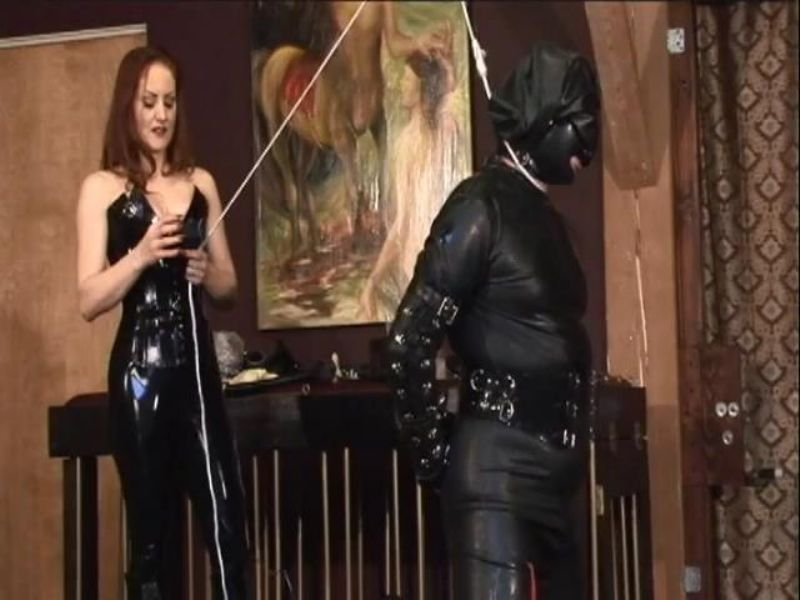 Goddess In Scene: Experienced Mistress does some very intense breathe control femdom to her latex clad slave preparing him for more to come - FEMDOMLOFT - SD/480p/MP4