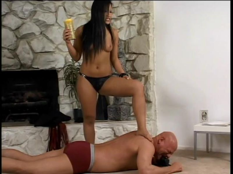 Domina In Scene: Asian Mistress in a femdom session with a male slave putting him through his paces and humiliating him - FEMDOMLOFT - SD/480p/MP4
