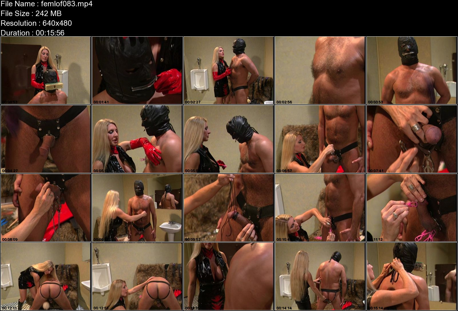 Domina In Scene: Strict blonde Mistress whips and humiliates her slave and also punishes his slave balls with multiple clamps - FEMDOMLOFT - SD/480p/MP4
