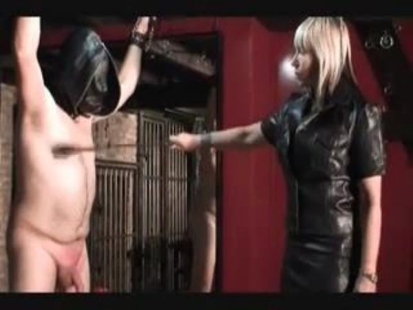 Mistress In Scene: Mistress ties up her slave, whips his cock and balls and tortures his nipples - FEMDOMLOFT - LQ/240p/MP4