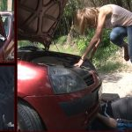 Mistress Kitty In Scene: Bad day for a unlucky driver: wedge heeled shoes – FOOTFETISHATTITUDE – SD/576p/WMV