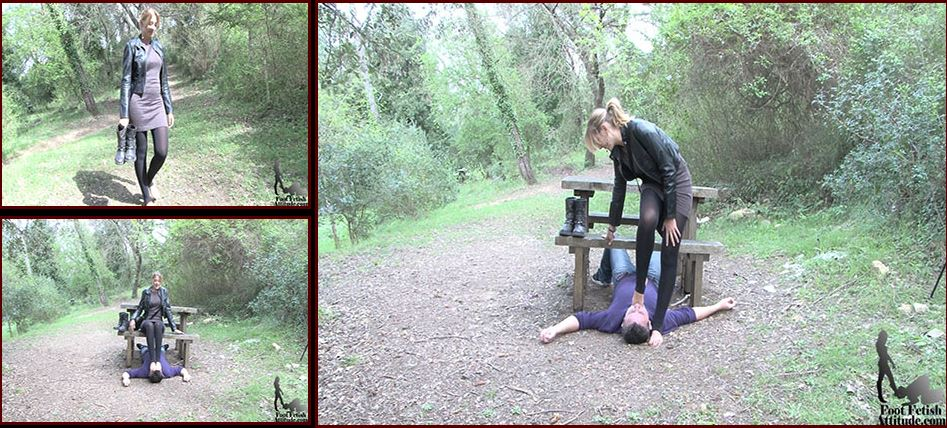 Mistress Kitty In Scene: Outdoor pedicurist for Mistress - FOOTFETISHATTITUDE - SD/576p/WMV