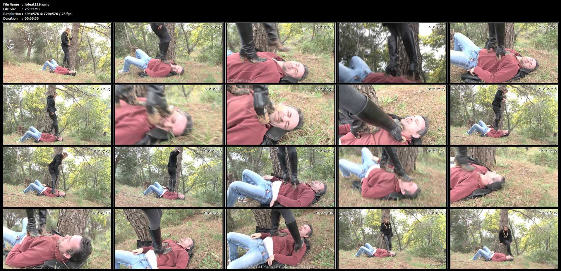 Mistress Francesca In Scene: High heel Muddy boots trample - FOOTFETISHATTITUDE - SD/576p/WMV