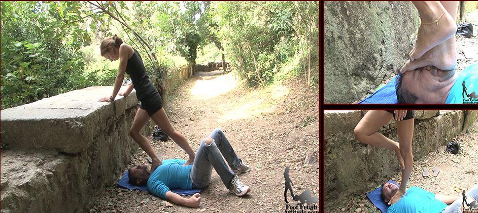 Mistress Maeva In Scene: Hard face and throat trample - FOOTFETISHATTITUDE - SD/576p/WMV
