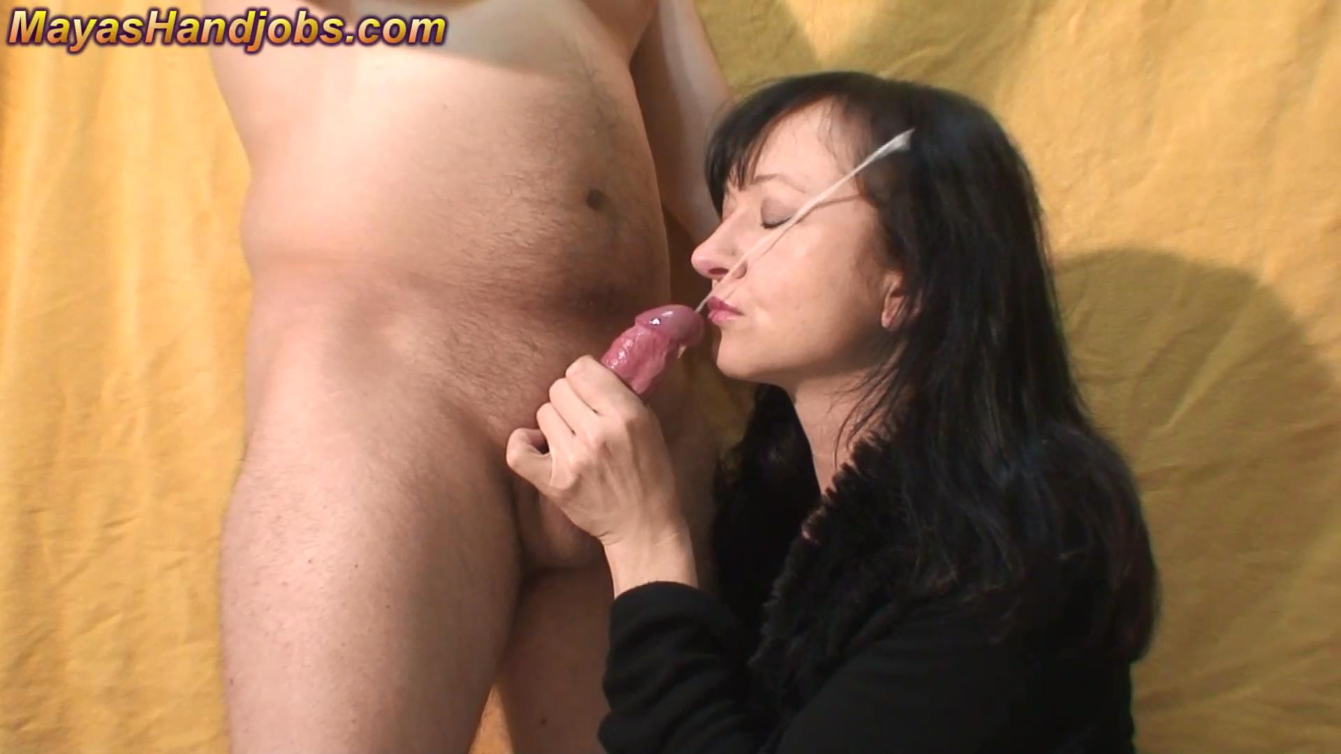 Mistress Maya In Scene: Awesome and incredible huge cumshot into face - MAYASHANDJOBS - FULL HD/1080p/MP4