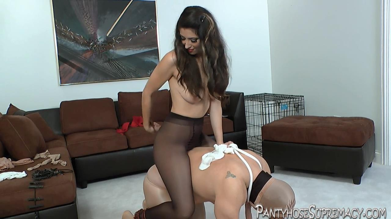 Mistress Athena In Scene: Her Pantyhose Pony Part 3 of 3 - PANTYHOSESUPREMACY - HD/720p/MP4