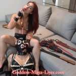 Goddess Maya Liyer In Scene: Nervous Latex Maid in training – REAL-FEMDOM-CLIPS – FULL HD/1080p/MP4