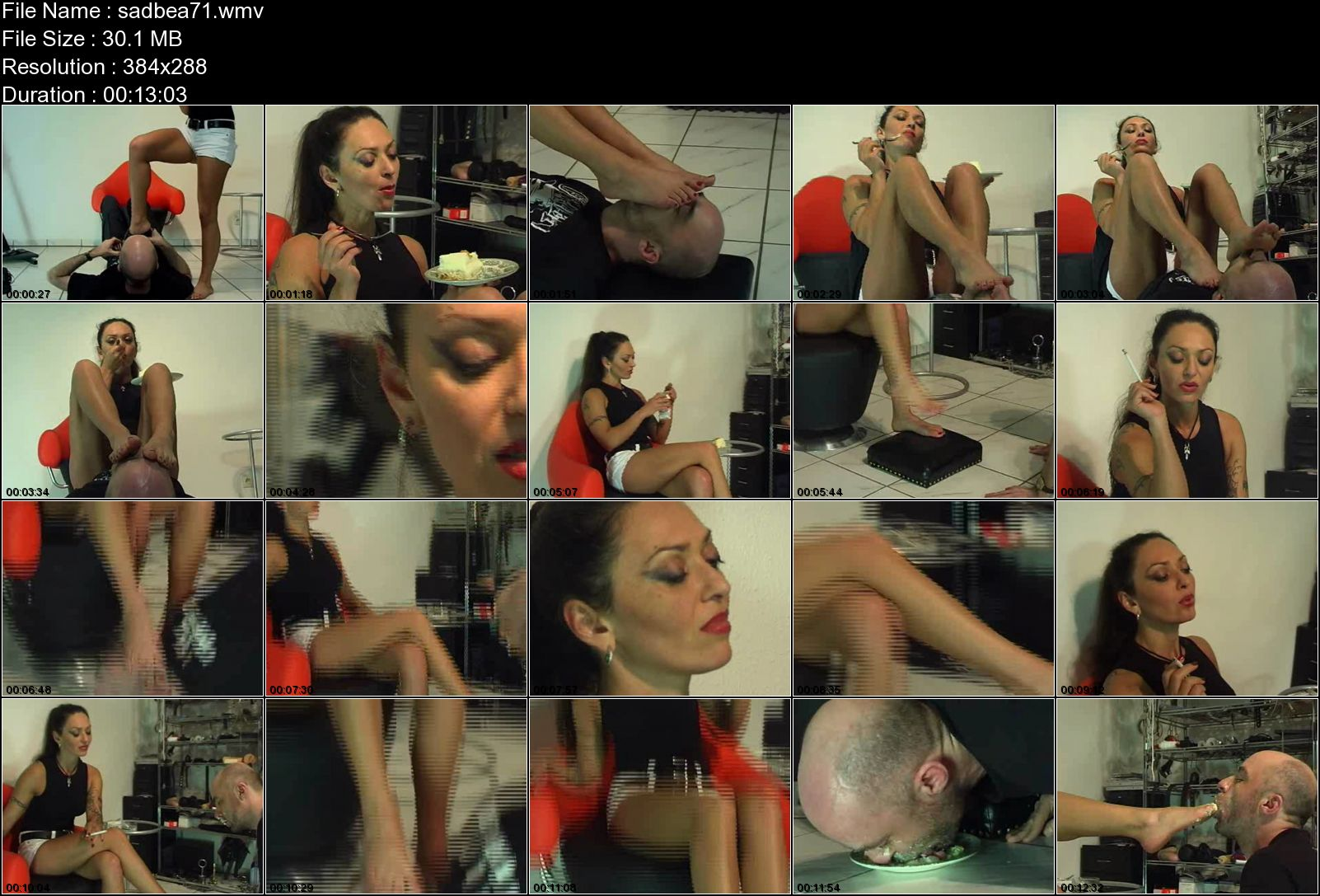EMPRESS CRUEL In Scene: FOOT-FETISH & KINKY FOOD-CRUSHING - SADOBEAUTIES - LQ/288p/WMV