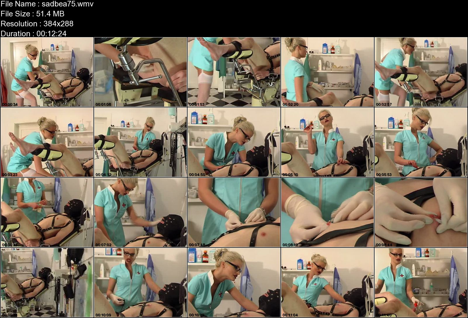 SYONERA VON STYX In Scene: MERCYLESS NURSE - SADOBEAUTIES - LQ/288p/WMV