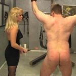 Petite Blonde In Scene: Sadistic and ruthless petite blonde has a male suspended for some severe caning and cropping punishments – WOMENWHOPUNISH – SD/576p/MP4