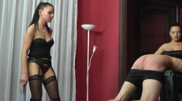 Dominas In Scene: Merciless Dominas in sexy lingerie have a slave tied down as they circle him like prey and whip his body silly - WOMENWHOPUNISH - LQ/238p/MP4