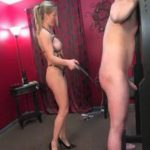 Mature blonde Mistress has her slave tied up securely and paddles and canes his ass while stroking his slave cock teasing him – WOMENWHOPUNISH – LQ/240p/MP4