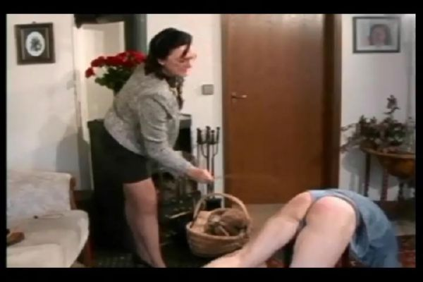 Domestic punishment for naughty guy including caning and ear pulling - WOMENWHOPUNISH - SD/480p/MP4