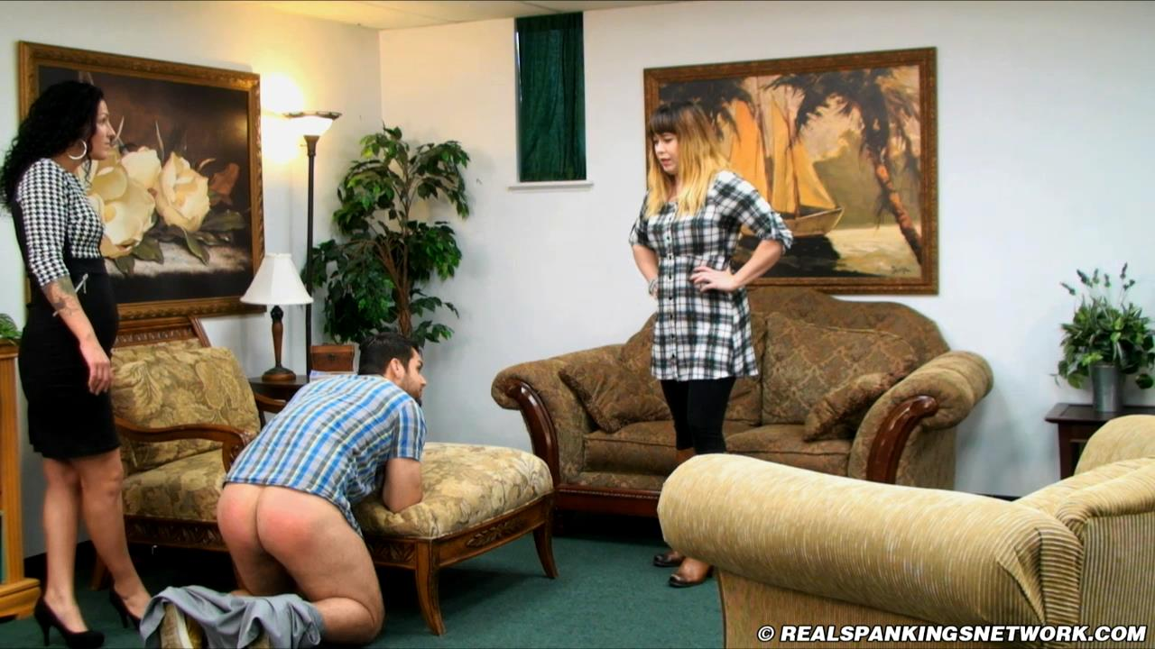 Miss Betty, Travis In Scene: Bruce Gets an Attitude Adjustment - WOMEN-SPANKING-MEN - HD/720p/MP4