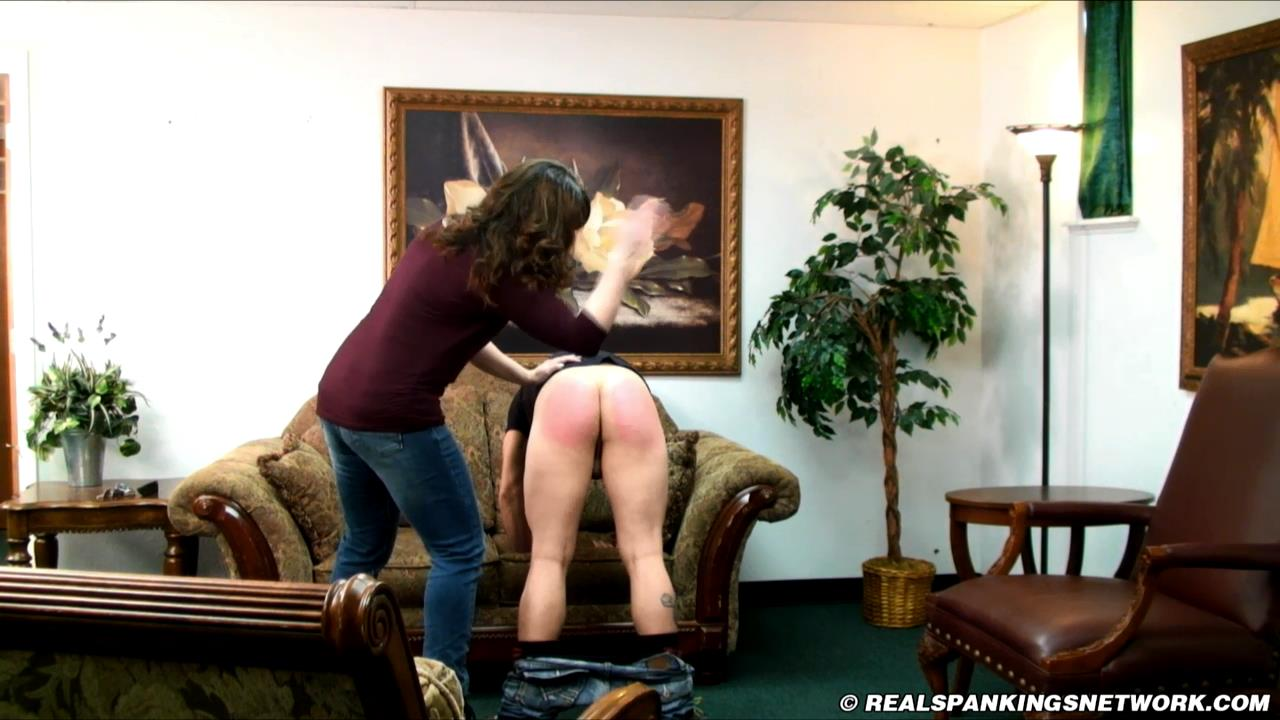Taylor, Miss Betty In Scene: Taylor Punished for Returning Late with the Car - WOMEN-SPANKING-MEN - HD/720p/MP4
