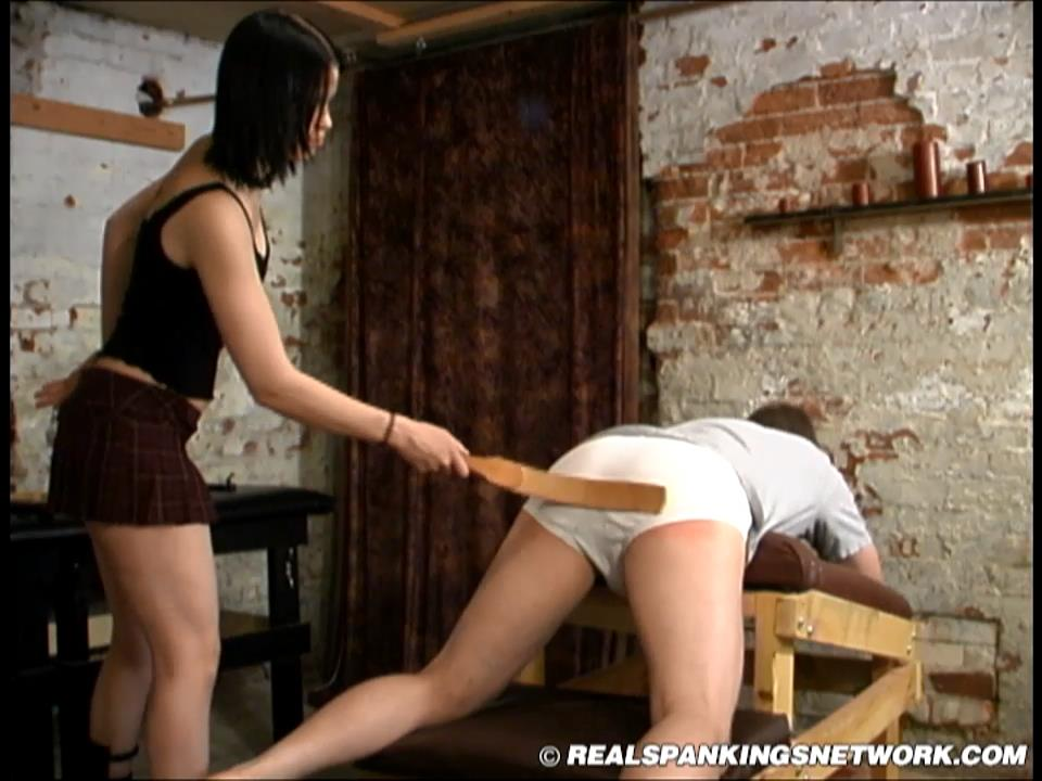 Kailee, Cindy In Scene: Spanked in the Dungeon by Kailee and Cindy - WOMEN-SPANKING-MEN - HD/720p/MP4