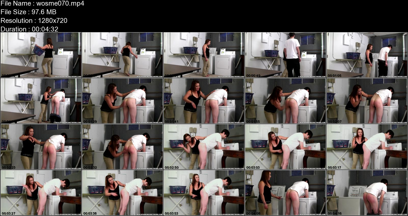 Zack, Claire In Scene: Zack Spanked for Being Lazy - WOMEN-SPANKING-MEN - HD/720p/MP4