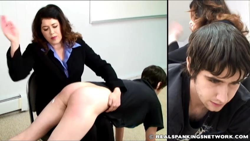 Zack, Miss Betty In Scene: Zack's OTK - WOMEN-SPANKING-MEN - SD/480p/RAM