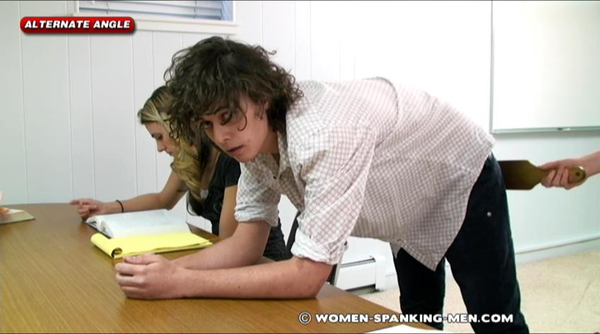 Steven, Miss Betty In Scene: Steven Punished for Cheating - WOMEN-SPANKING-MEN - SD/472p/RAM