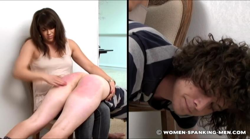 Steven, Miss Betty In Scene: Steven is Spanked OTK - WOMEN-SPANKING-MEN - SD/472p/RMVB
