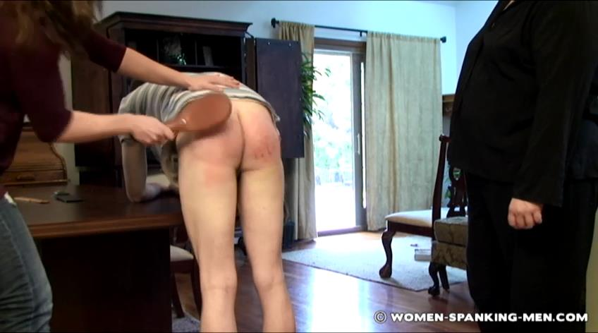 Miss Betty, Miss Kay, Brian In Scene: Miss Kay and Betty Spank Brian - WOMEN-SPANKING-MEN - SD/472p/RMVB