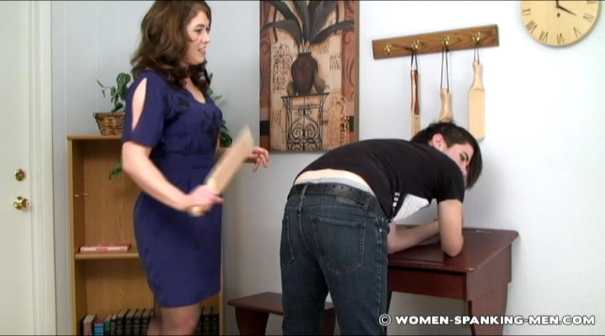 Devv In Scene: Dev Interviewed and Paddled - WOMEN-SPANKING-MEN - SD/472p/RAM