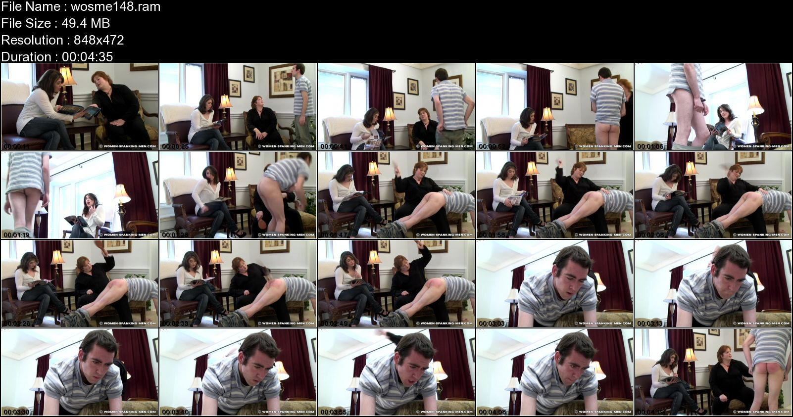 Brian, Miss Kay In Scene: Brian is Spanked by Miss Kay for Coming Home Late - WOMEN-SPANKING-MEN - SD/472p/RAM