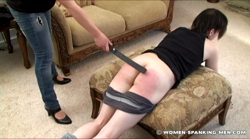 Devv, Miss Betty In Scene: Devv is Strapped For Being Late - WOMEN-SPANKING-MEN - SD/472p/RAM