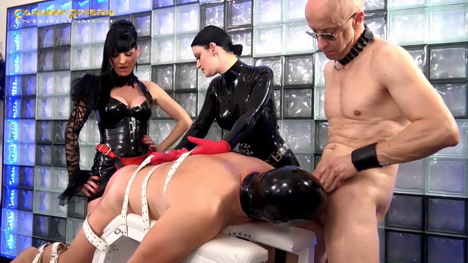 Lady Carmen Di Rivera, Lady Elena In Scene: Get fuckable, slave! Part 5 - The party fucking test - YOURMISTRESS - SD/540p/MP4