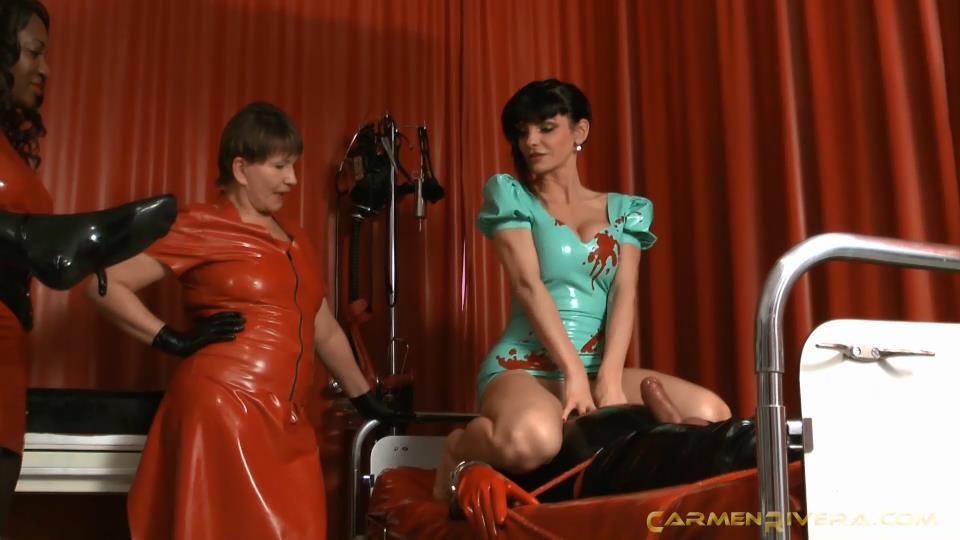 Lady McLaines, Baronessa Carmen Di Rivera, Lady Sahara In Scene: Rubber Clinic Part 1 - Exam 1 - YOURMISTRESS - SD/540p/MP4