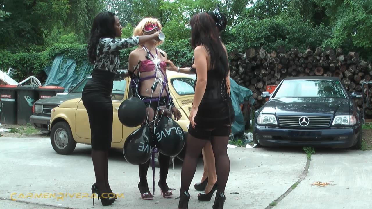 Lady Sahara, Lady Lexa, Baronessa Carmen Rivera In Scene: Spaghetti Kackanese Part 2 - Pissed slave - YOURMISTRESS - HD/720p/MP4