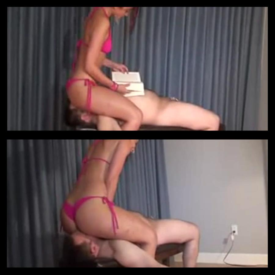 Face sitting Princess in bra and panties - BENEATHHER - LQ/240p/MP4