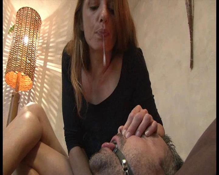 Mistress Maev In Scene: Human ashtray and spittoon - FOOTFETISHATTITUDE - SD/576p/WMV