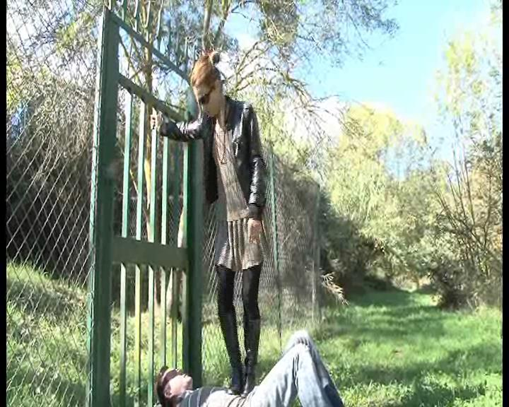 Mistress Maeva In Scene: Brutal high heeled black boots trampling - FOOTFETISHATTITUDE - SD/576p/WMV