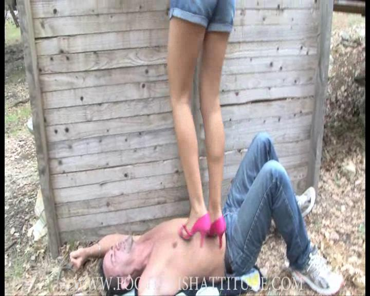 Mistress Kitty In Scene: Red high heel trample - FOOTFETISHATTITUDE - SD/576p/WMV