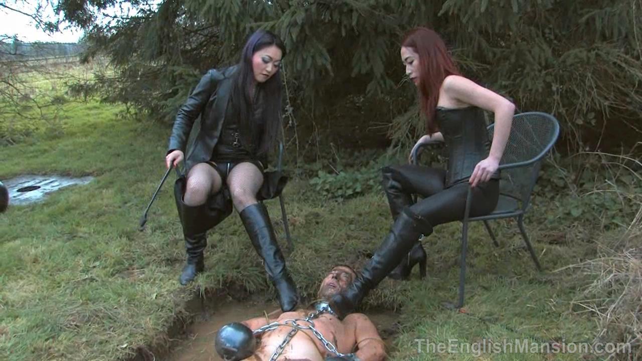 Goddess Maya Liyer, Mistress Amrita In Scene: Mud Pit Punishment - THEENGLISHMANSION - HD/720p/WMV