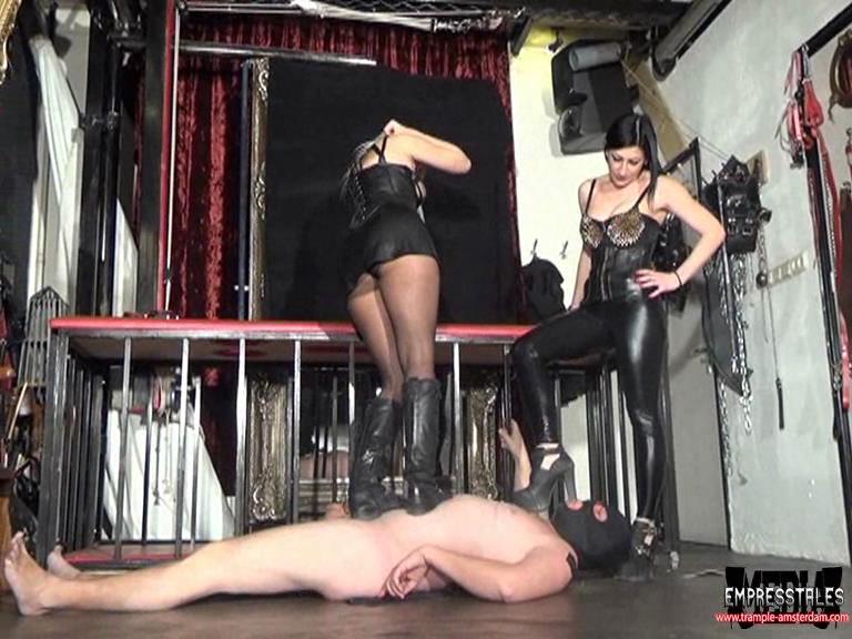 MISTRESSES KELLY KALASHNIK & ANITA DIVINA In Scene: TRAMPLE, CRUSHING, JUMPING - TRAMPLE-AMSTERDAM - SD/576p/WMV