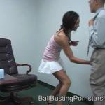 Jessica Valentino In Scene: Ballbusting Cumshot and Femdom Ballbusting by a College Schoolgirl – BALLBUSTINGPORNSTARS – SD/480p/WMV