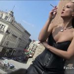 Fetish Liza In Scene: Public smoking and leather fetish – FETISHLIZA – HD/720p/MP4