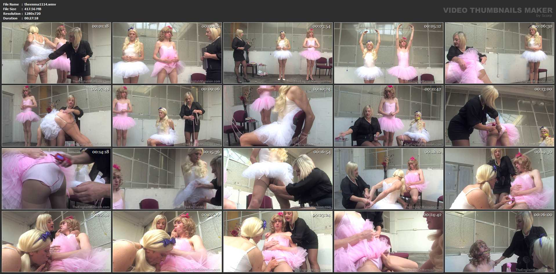 Lady Nina Birch In Scene: Bossy Ballet Teacher - THEENGLISHMANSION - HD/720p/WMV