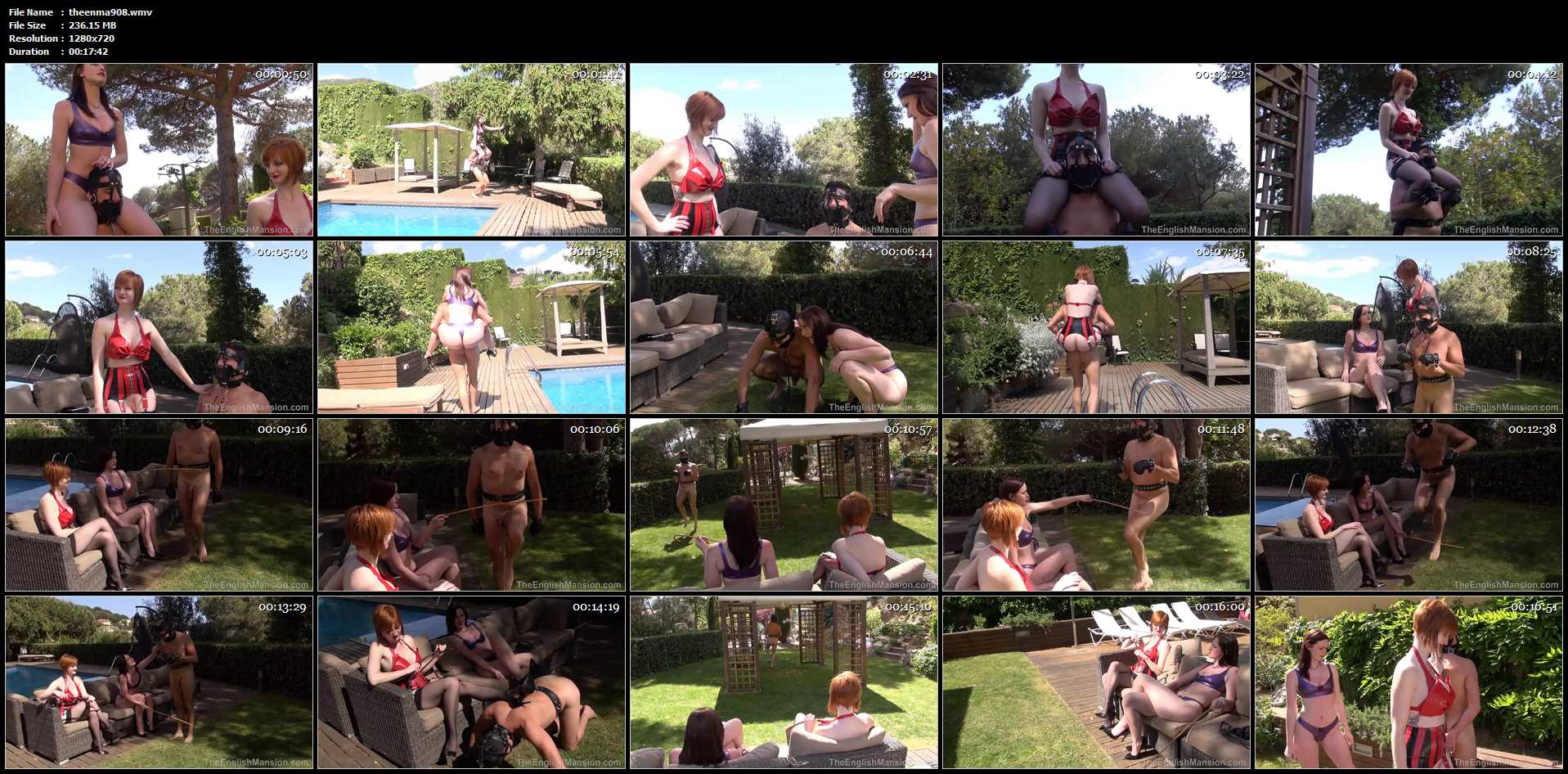 Miss Vivienne lAmour, Miss Zara In Scene: Poolside Riding - THEENGLISHMANSION - HD/720p/WMV