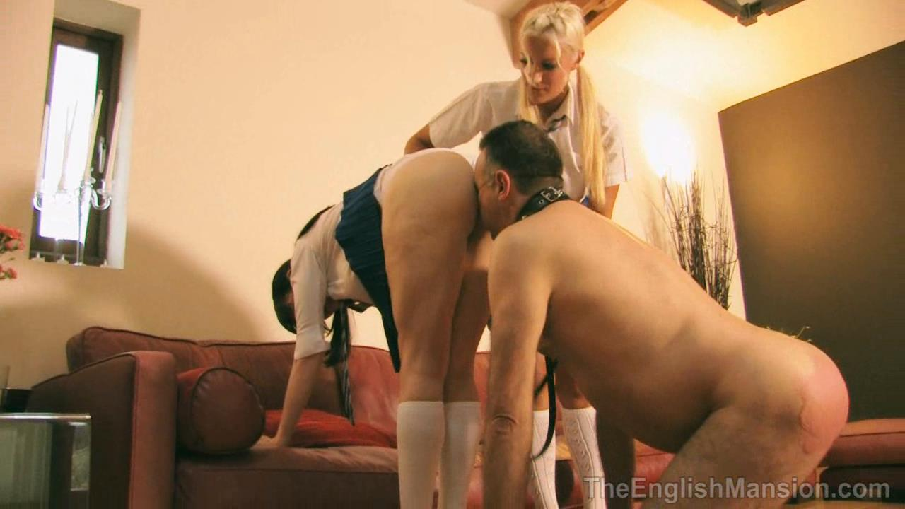 Miss Jessica, Mistress Nikki In Scene: Their Obedient Dog - THEENGLISHMANSION - HD/720p/WMV
