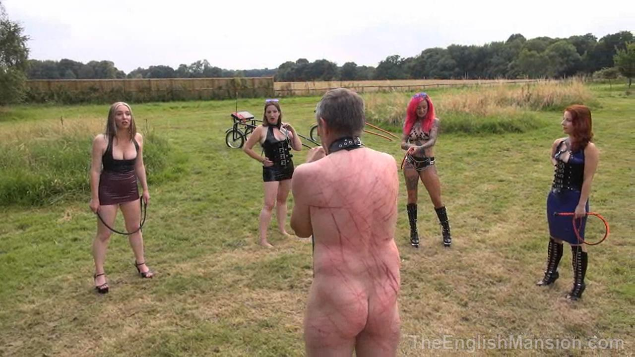 Miss Annalieza, Mistress Evilyne, Mistress Lola Ruin, Mistress Sidonia In Scene: The Mansion's Summer Garden Party Pt3 - THEENGLISHMANSION - HD/720p/WMV