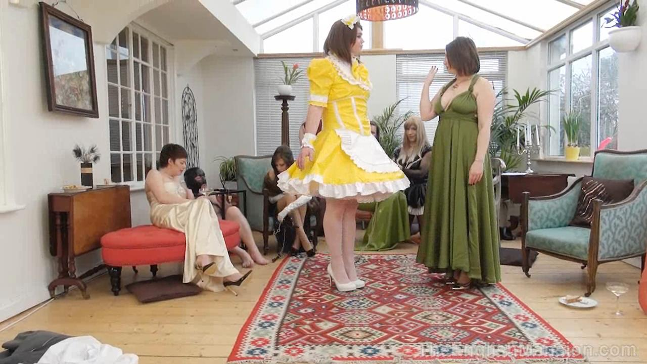 Goddess Miss Kelly, Governess Ely, Miss Vivienne lAmour, Mistress Evilyne, Mistress Sidonia In Scene: Pretty Maid Manor Pt1 - THEENGLISHMANSION - HD/720p/WMV